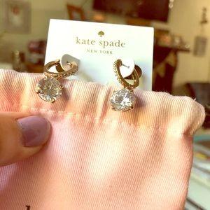 🌹 Kate Spade Rose Gold Hoop Huggie Drop Earrings